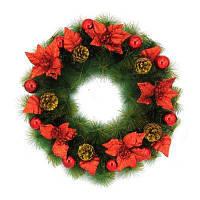 Новогоднй рождественский венок украшение для дома 1шт 60cm