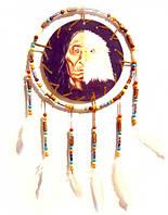 """Ловец Снов """"Полу индеец-полу орел в круге"""""""