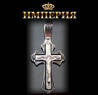 Крест православный мужской прямой серебряный 12 г
