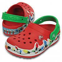 Детские Крокс Crocs Lights Holiday Clog, сабо Оригинал