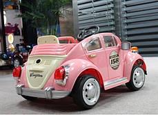 Детский Электромобиль YJ158 Жук розовый на радиоуправлении, фото 3