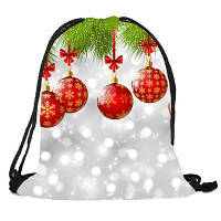 Рождественский блесна Pattern Candy Bag Drawstring Рюкзак Разноцветный