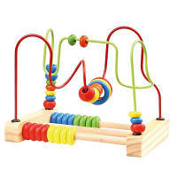 Abacus Counting Circles Bead Деревянная обучающая игрушка Разноцветный