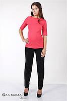 """Зауженные брюки для беременных """"Caitlin"""" из плотной би-стрейчевой костюмной ткани, черные, фото 1"""