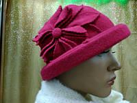 Шляпы RABIONEK из шерсти с цветком, вишневый цвет