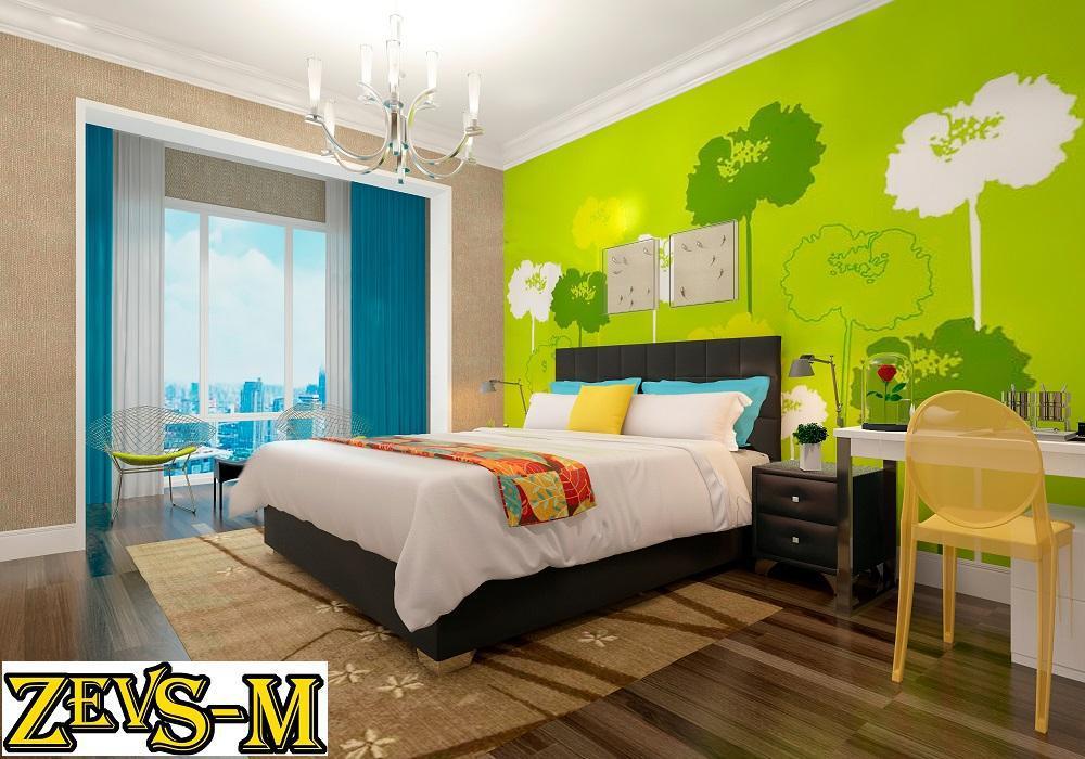 Ліжко двоспальне з мякою спинкою спальню Zevs-M Стелла 140*190