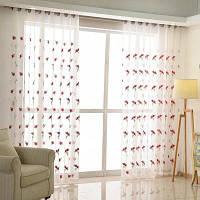 Корейский стиль Сад Гостиная Спальня Детская комната Вышивка Пряжа Шторы 2x (42 ширина x 84 длина)