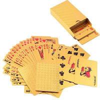 Роскошная золотая фольга 24K в покер Игральные карты Палуба Carta de Baralho с коробкой Хорошая идея подарка Золотой