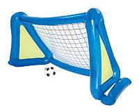 52215 BW Футбольный набор 254х112х130 см (надувные ворота с брызгалкой + мяч)