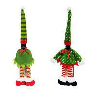 2шт Хорошее качество Рождественские украшения Винные бутылки Чехол Цветной