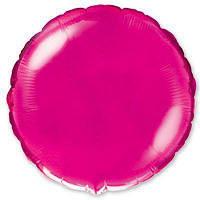 """Фольгированные шары без рисунка  18"""" Круг металлик малиновый (FlexMetal)"""