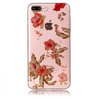 Цветочный узор Мягкий чехол с защитой от царапин TPU для iPhone 8 Plus разноцветный