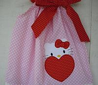 Детское платье -  горошек с апликацией, фото 2