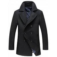 Подушка с воротником с двойным шерстяным шерстяным пальто 3XL