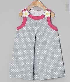 Дитяче плаття - горошок з аплікацією
