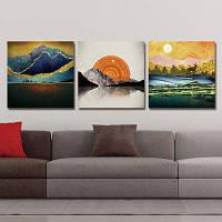 DYC 10245 Landscape Print Art готова повесить картины 3PCS 30 x 30 см x 3