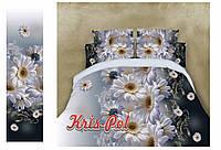 Постельное белье евро красивые ромашки 5д недорого