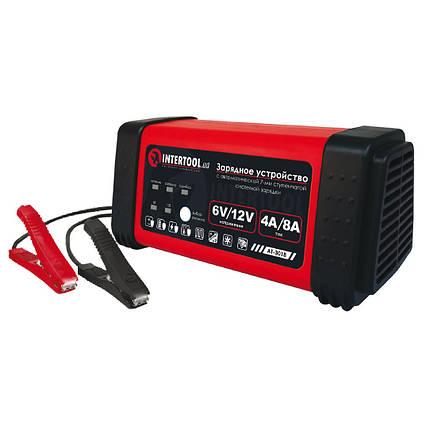 Зарядное устройство 6/12В, 4/8A, 230В, LED-индикация INTERTOOL AT-3018, фото 2