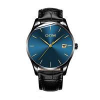 DOM M-11bk 4892 модные повседневные мужские часы водонепроницаемые Чёрный и синий