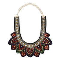 Новый продукт M-Woven Alloy Multi-layer Necklace Красный