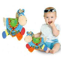 Baby Rattles Teether Обучающие обучающие игрушки для малышей Книга ослейной книги для подарка на Рождество 0-12 месяцев разные цвета