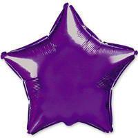 """Фольгированные шары без рисунка  18"""" Звезда металлик фиолетовая (FlexMetal)"""
