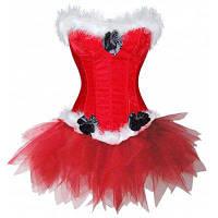 Новогоднее платье из Санта-Клауса S