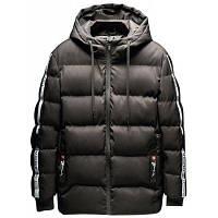 Мужская хлопковая длинная куртка с мягкой пуховой курткой XL
