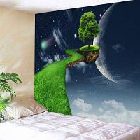 3D Планета Плавающий путь дерева Печать Стена Висящая Фантазия Гобелен ширина79дюймов*длина59дюймов