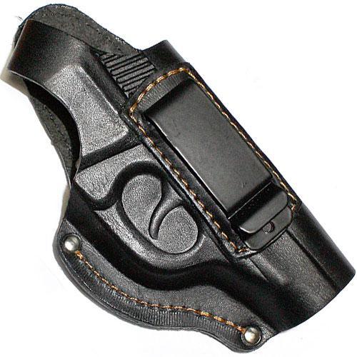 Кобура поясная для пистолета ПГШ 790 со скобой для скрытого ношения. Кожа.