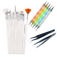 Маникюрные точечные инструменты для сверления Щетки для пинцета Цветной
