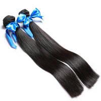 2 Bundle Unprocessed Virgin Indian Прямые волосы для волос-натуральный черный 8х10 дюймов