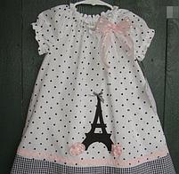 Детское платье -  горошек с апликацией, фото 3