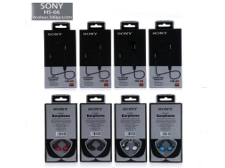 Наушники вакуумные с микрофоном Sony HS-66