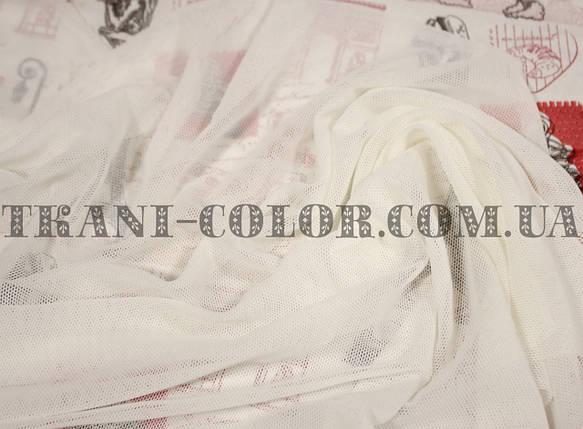 Ткань сетка стрейч молочная, фото 2