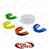 Капа боксерская односторонняя в футляре BO-6594 (термопластик, цвет в асcорт)