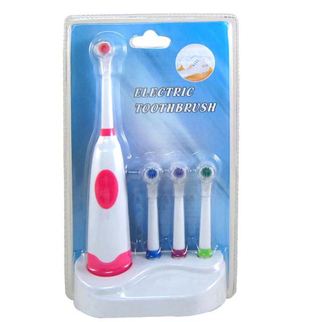 Электрическая зубная щетка + 4 насадки и подставка