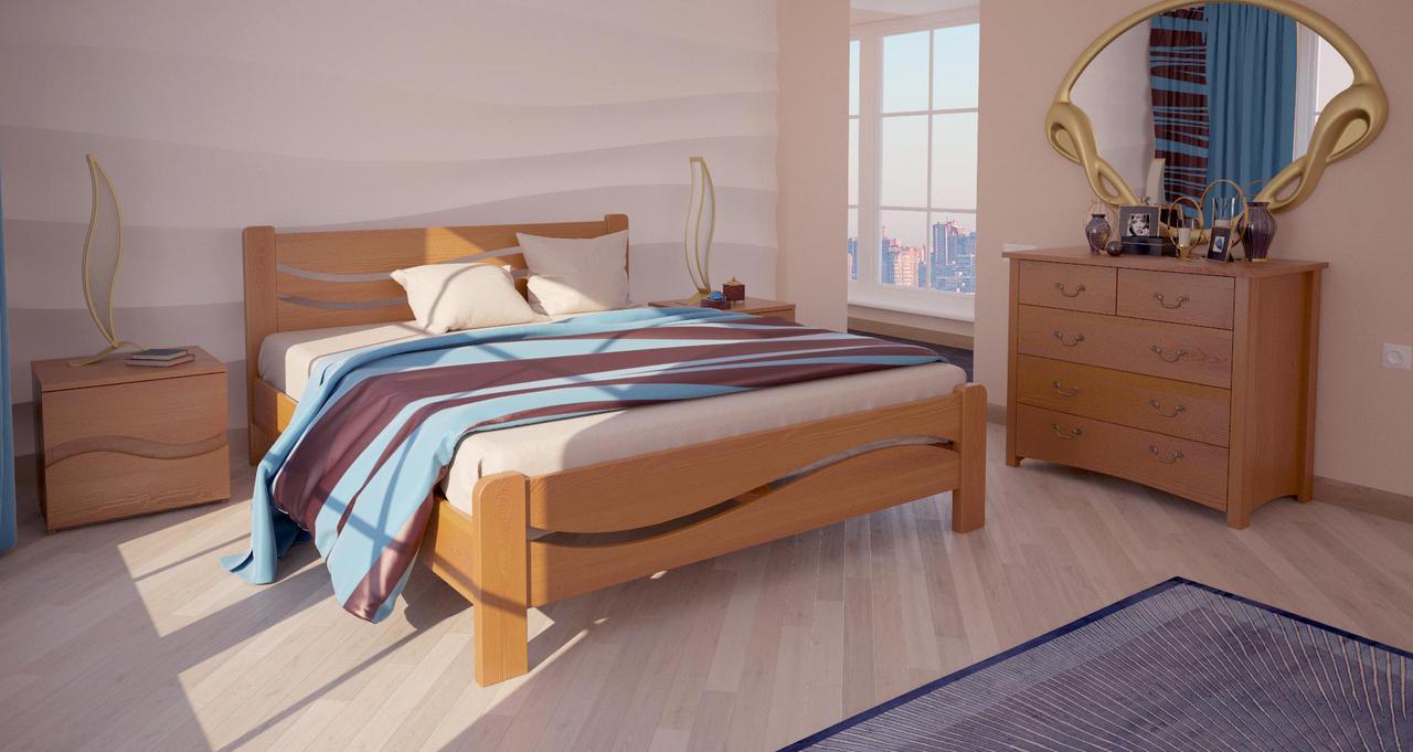 Кровать односпальная в детскую/спальню ХМФ Женева (90*190)