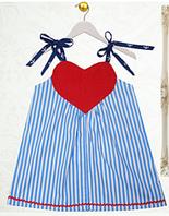 Детское платье - Сердечко -  Хлопок 100% , фото 1