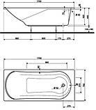 Акриловая ванна KOLO Comfort XWP3070000, 1700x750x570 мм, фото 2