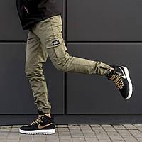 Мужские карго брюки beZet Zipp Khaki '18, 100% хлопок