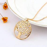 925 стерлингов Серебряное классовое дерево жизни подвеска ожерелье цепи подарок Золотистый
