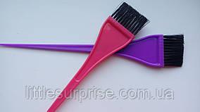 Кисть для покраски волос Узкая цветная