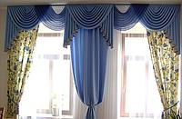 Ламбрекен на два окна