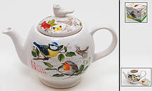 Чайник заварочный керамический 1260мл Птицы