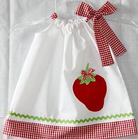 Детское платье - Клубничка -  Хлопок 100% , фото 1