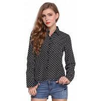 Женские шифоновые блузки Женские белые / черные футболки для девочек XL