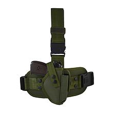 Кобура тактична стегновий для пістолета Макарова олива.