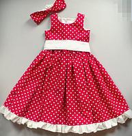 Детское платье -  горошек , фото 1