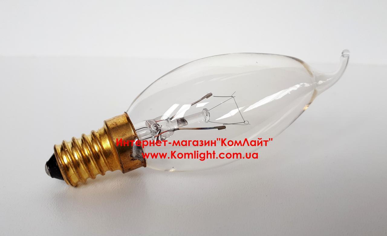 Лампа свеча на ветру прозрачная PHILIPS BXS35 40W 230V E14(Филиппины)